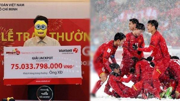 Người trúng Vietlott 75 tỷ tặng đội tuyển U23 Việt Nam 100 triệu đồng