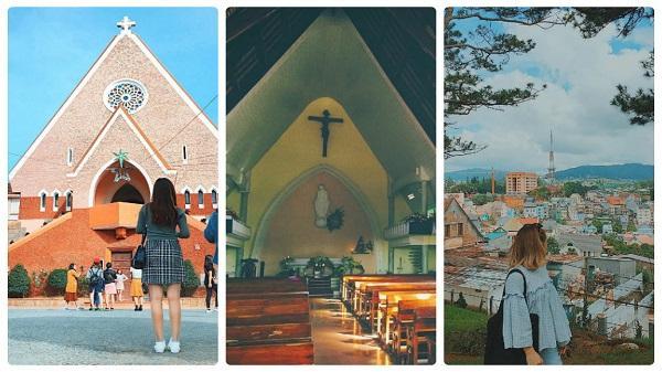 Không chỉ Sài Gòn, Đà Lạt cũng có nhà thờ màu hồng cho giới trẻ tha hồ 'thả dáng so deep'!