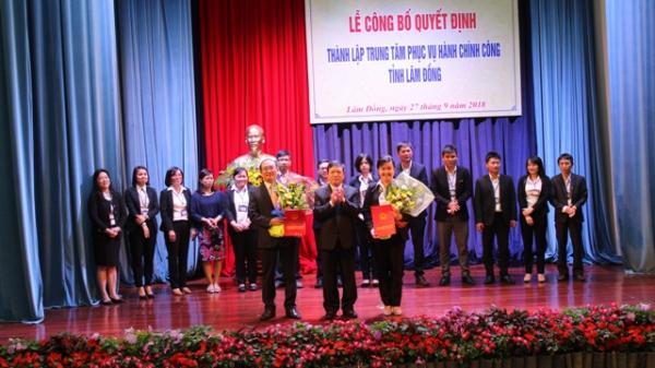 Lâm Đồng: Công bố quyết định thành lập Trung tâm phục vụ hành chính công