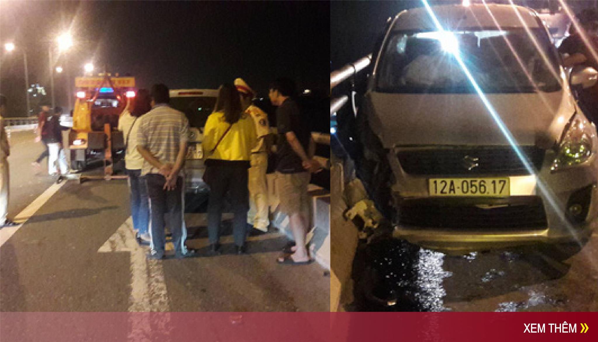 CỰC NÓNG: Người đàn ông Lạng Sơn lái ô tô tông vào thành cầu rồi nhảy sông tự tử