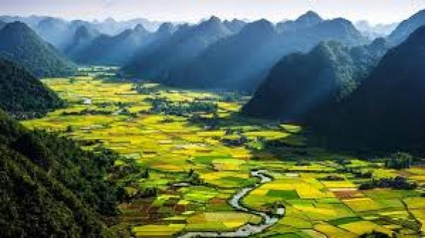 Thung lũng Bắc Sơn đẹp mê hồn khi nhìn từ trên cao