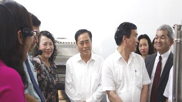 Bếp ăn mẫu bán trú tại Lạng Sơn thu hút các trường tham quan