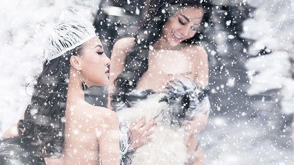 """Thiếu nữ xinh đẹp mặc bikini giữa tuyết trắng: """"Lúc đầu mình sốc vì mọi người cho rằng phản cảm, nhưng đó là nghệ thuật"""""""