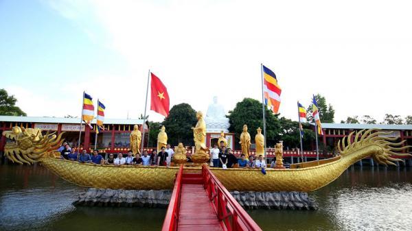 Chùm ảnh cảnh chùa Phật học 2 Sóc Trăng đẹp uy nghiêm, thanh nhã