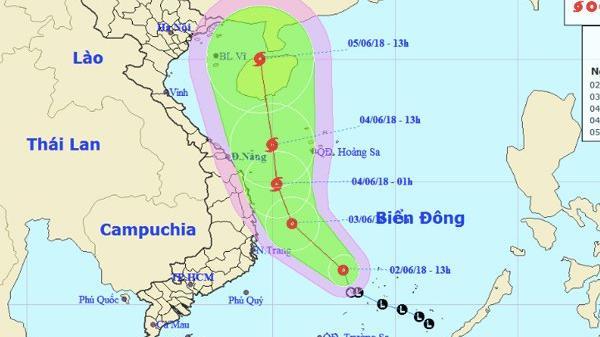 Áp thấp nhiệt đới có khả năng mạnh lên thành bão số 2, hướng thằng về phía Bắc