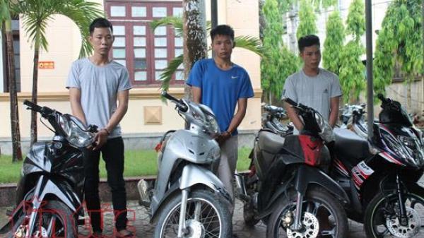 Hà Tĩnh: Tóm gọn ổ nhóm gây ra hàng loạt vụ trộm cắp xe máy