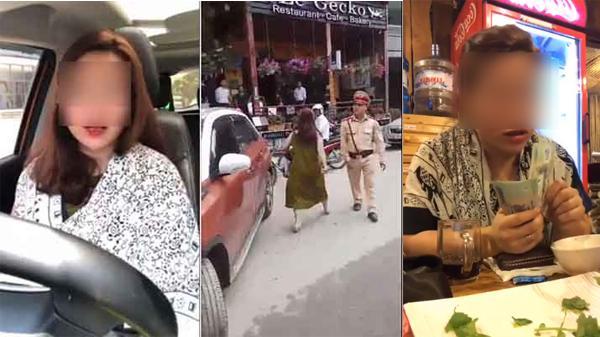 Nữ tài xế đỗ xe chắn ngang đường ở Sa Pa quay clip thách thức cộng đồng mạng: Tặng 500k cho 1 câu chửi mình