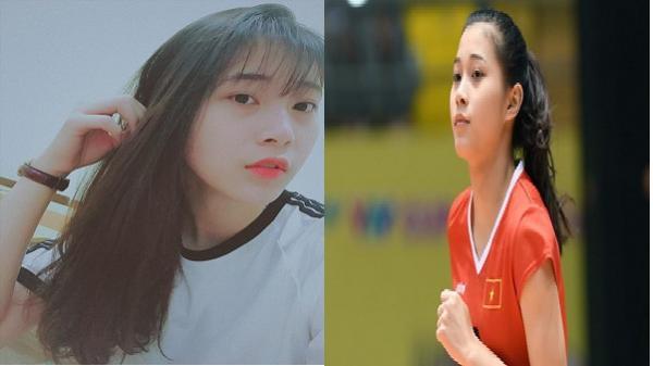 Hoa khôi bóng chuyền 16 tuổi Đặng Thu Huyền hâm mộ thủ thành U23 Bùi Tiến Dũng