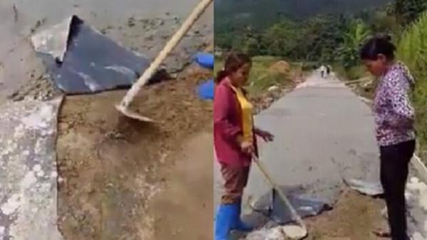 """Đơn vị thi công lên tiếng vụ người dân đào đường vì nghi bị """"ăn bớt"""" ở Yên Bái"""
