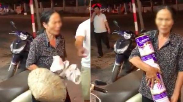 Bà cụ cầm nón lá, mang bao tải tiếp tục trộm cắp vặt ở Hải Dương sau khi bị phát giác ở Hà Nội