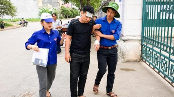 Hà Tĩnh: Bị tai nạn trọng thương, nam thí sinh phải bỏ thi môn Hóa