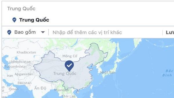 Facebook đã bỏ Trường Sa, Hoàng Sa ra khỏi bản đồ Trung Quốc