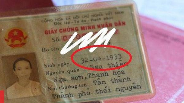 Giấy CMND 'siêu lạ lùng' của cụ bà U80 sinh ngày 32/4 khiến dân mạng 'cười sái quai hàm'
