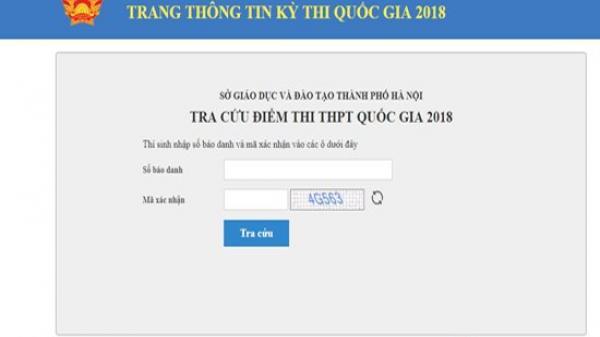 Sở GD&ĐT Hà Nội hướng dẫn cách tra cứu online điểm thi THPT quốc gia năm 2018