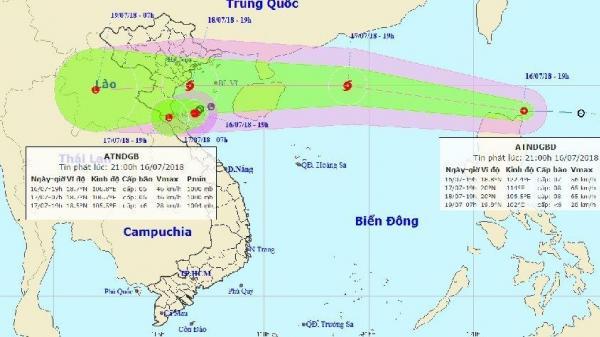 Dự báo thời tiết hôm nay (ngày 17/7): Bão giật cấp 10 di chuyển nhanh, mưa to khắp nơi