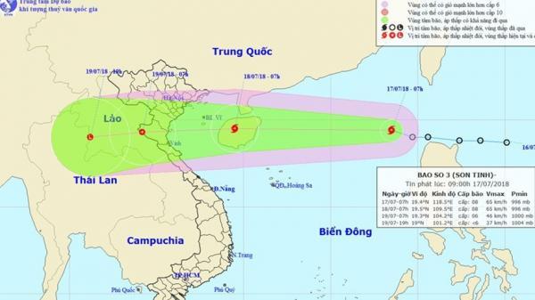 Công điện hỏa tốc, khẩn cấp ứng phó bão số 3 Sơn Tinh đang phi mã vào đất liền