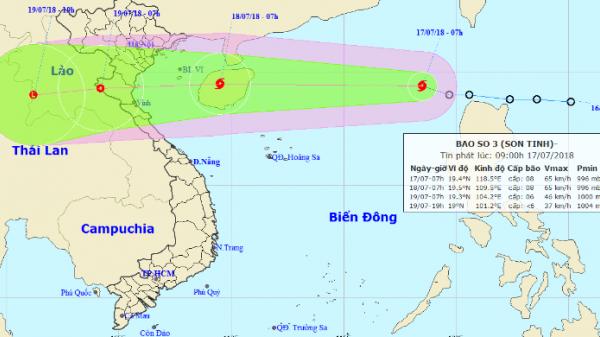 Dự báo thời tiết ngày 18/7: Bão Sơn Tinh tấn công, nhiều nơi có nguy cơ lụt