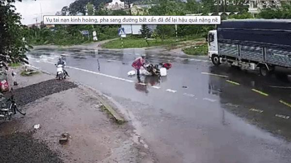 Kinh hoàng: Sang đường bất cẩn đã để lại hậu quả nặng nề