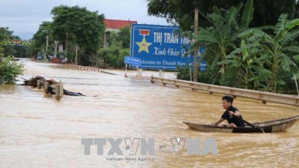 Cảnh báo xuất hiện lũ, nguy cơ lũ quét, sạt lở đất tại Phú Thọ