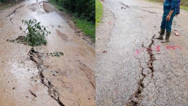 100m đường ở Hòa Bình nguy cơ bị sông Đà nuốt chửng