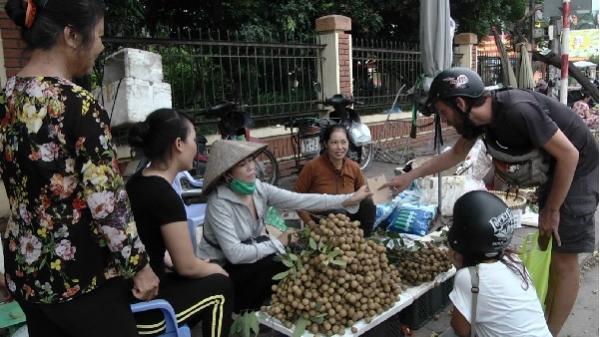 Nhãn Sơn La tràn lan về chợ Khoái Châu, Hưng Yên