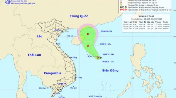Dự báo thời tiết 9/8: Vùng áp thấp có thể mạnh thành áp thấp nhiệt đới, Lào Cai cảnh báo nguy cơ sạt lở đất