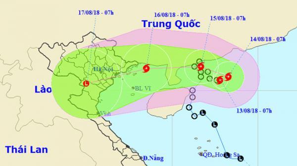 KHẨN: Bão số 4 - Bebinca sắp vào vịnh Bắc Bộ, miền Bắc mưa lớn