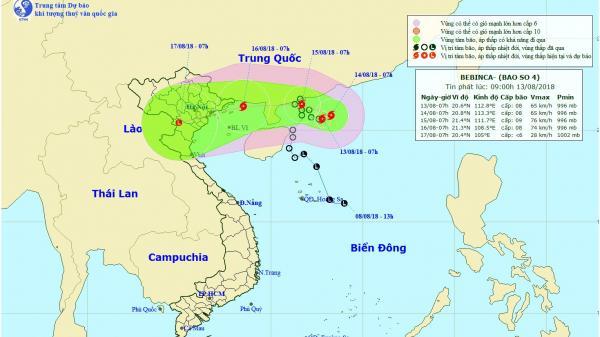 NÓNG: Bão số 4 chuyển hướng, giật cấp 10, các tỉnh Bắc Bộ mưa to và đề phòng lũ quét và sạt lở