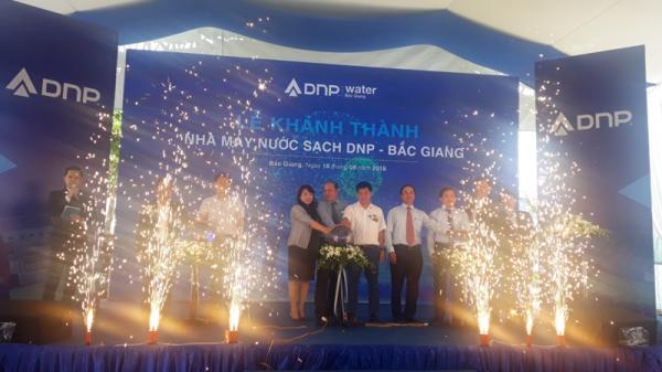 Chính thức bấm nút vận hành nhà máy nước sạch đầu tiên trong lịch sử ở Bắc Giang