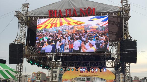 Sôi động tại Lễ hội Bia Hà Nội tại Quảng trường TP Bắc Giang, thu hút hàng triệu khách