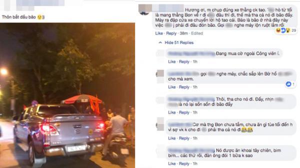 """Chồng dẫn con trốn đi """"bão"""" nhưng không may bị chụp ảnh đăng Facebook, vợ phát hiện liền để lại lời nhắn khiến ai cũng phì cười"""