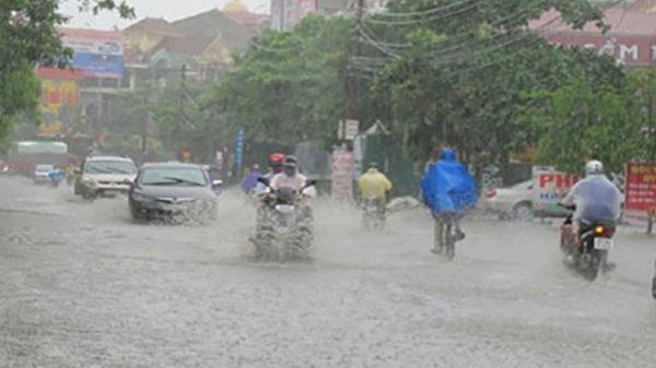 Từ đêm nay Hòa Bình và các tỉnh Bắc Bộ có mưa rất to kéo dài 4 ngày