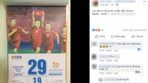 Dân mạng sục sôi trước tờ lịch 'tiên tri' về chiến thắng sắp tới giữa U23 Việt Nam và U23 Hàn Quốc