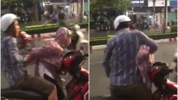 Clip: Đánh vợ dã man giữa đường, anh chồng lĩnh đủ 1 trận đòn của thanh niên qua đường