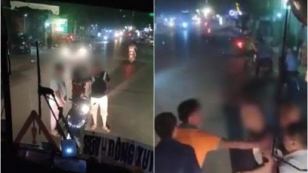 Nháy đèn pha yêu cầu tránh đường ở Bắc Giang, tài xế bị côn đồ doạ giết, bắt quỳ xin lỗi