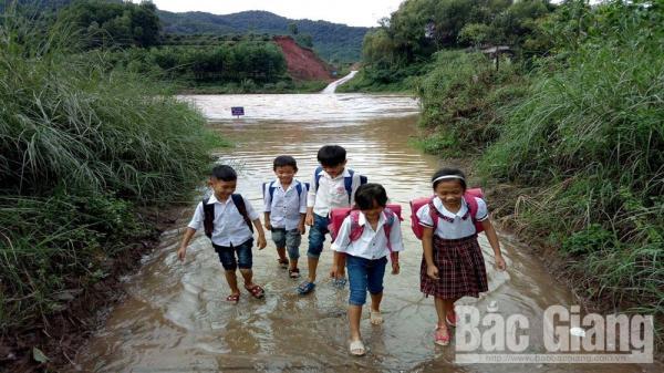 Sơn Động (Bắc Giang): Ảnh hưởng hoàn lưu bão số 6, hàng trăm học sinh nghỉ học
