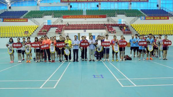 Lào Cai: 68 vận động viên tham dự Giải cầu lông Khối Nội chính tỉnh