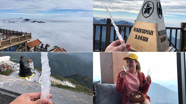Băng giá xuất hiện trên đỉnh Fansipan rồi, đừng bỏ lỡ cơ hội check-in mùa tuyết năm nay