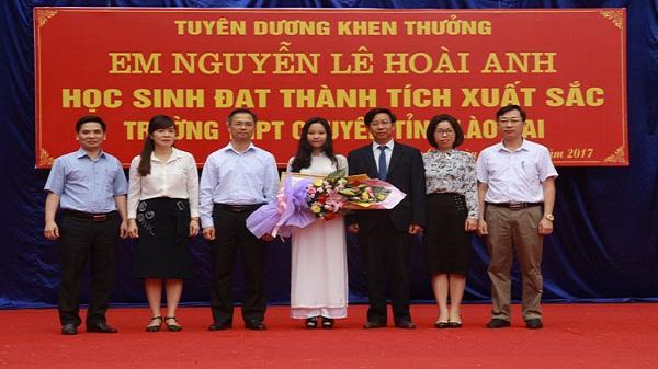 Tự hào Lào Cai có em Nguyễn Lê Hoài Anh giành học bổng của đại học Stanford (Mỹ)