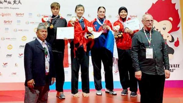 VĐV Quàng Thị Thu Nghĩa (Sơn La) đoạt Huy chương Vàng Giải vô địch Pencaksilat thế giới