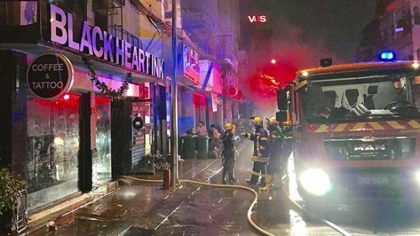 TP.HCM: Cháy quán cà phê khu Đệ Nhất, khách nháo nhào chạy