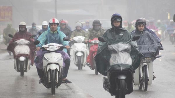 Không khí lạnh tăng cường, Bắc bộ mưa rào, vùng núi trời rét đậm dưới 8 độ C
