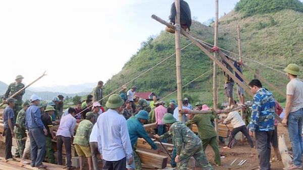 Trung đoàn 754: Giúp huyện Mộc Châu gần 2.000 ngày công khắc phục h.ậu q.uả thiên tai