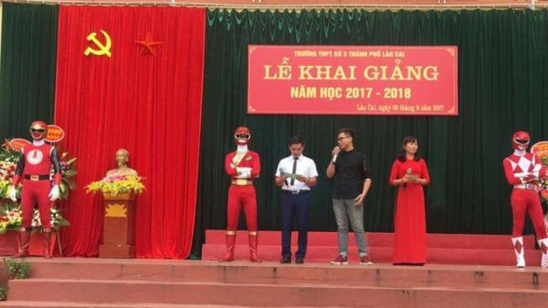 Ba anh em siêu nhân đỏ xuất hiện biến lễ khai giảng tại Lào Cai nổi nhất MXH