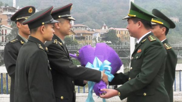 Tiểu đoàn BĐBP Hà Khẩu, Trung Quốc chúc Tết các đồn Biên phòng Lào Cai