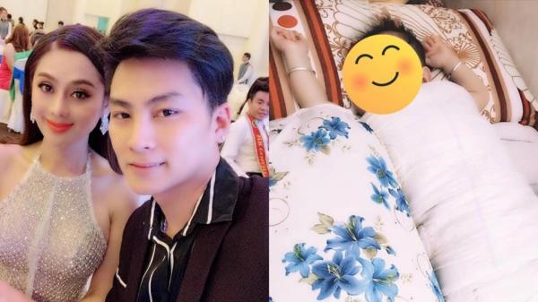 """Lâm Khánh Chi khoe khoảnh khắc đáng yêu của con trai 5 tháng tuổi, CĐM xuýt xoa: """"Giống bố quá"""""""