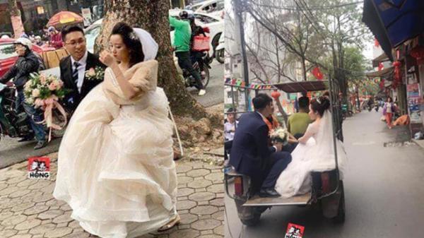 Cấm đường phục vụ hội nghị thượng đỉnh, cô dâu xách vội váy chạy bộ để kịp giờ làm lễ cưới