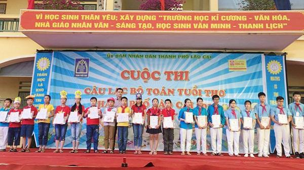 24 học sinh Lào Cai sẽ tham gia cuộc thi câu lạc bộ Toán tuổi thơ toàn quốc