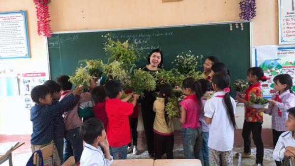 Cô giáo hạnh phúc nhất ngày 8/3 ở Lai Châu: Được học sinh tặng một 'núi' hoa rừng