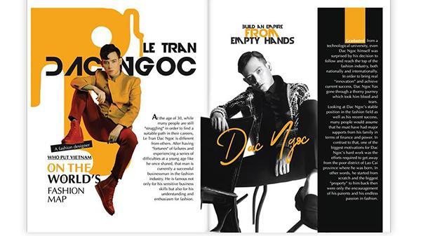 Đắc Ngọc – chàng trai Lào Cai trở thành nhà thiết kế châu Á đầu tiên xuất hiện trên trang bìa tạp chí nổi tiếng ở Mỹ